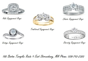 Diamond Engagement Rings Massachusetts, Anniversary Rings Grafton MA